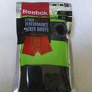 Reebok 3 pack BOYS performance boxer briefs